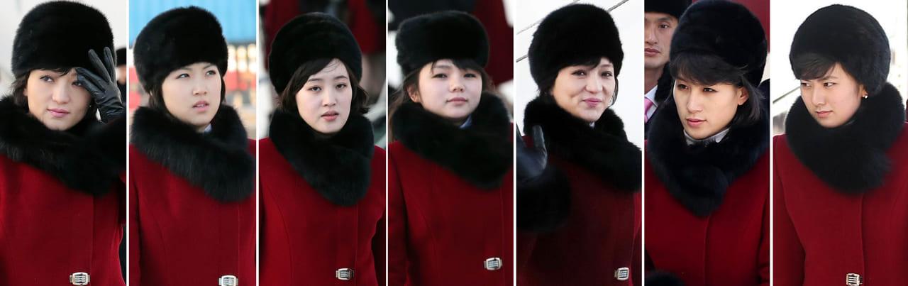 눈길끄는 북한 미녀 예술단원들