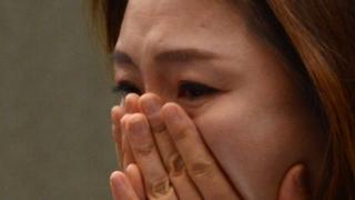 人身売買被害について証言する脱北女性(2015年3月3日・ソウル、デイリーNK)
