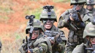 北朝鮮軍の兵士(朝鮮中央通信)