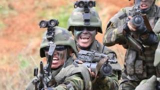 北朝鮮軍の特殊部隊員(朝鮮中央通信)