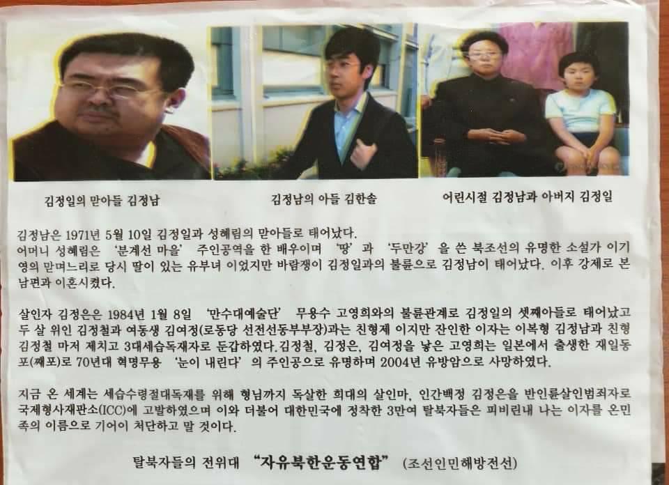 脱北者団体が北朝鮮に向けて飛ばした体制非難のビラ