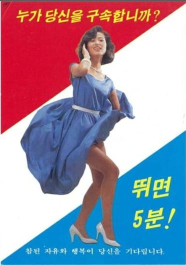 1980年代、韓国当局が最前線の北朝鮮兵士に亡命を促すため散布したビラ